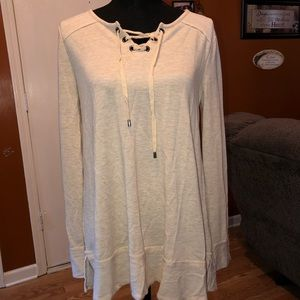 Spense Knits Lace Tie Tee